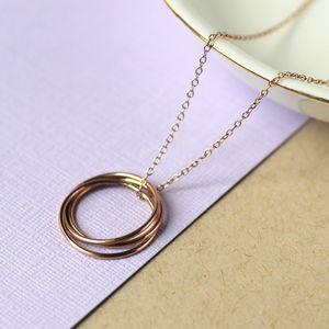 Rose Gold Fill Nest Necklace