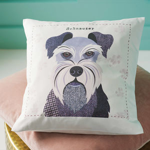 Mini Schnauzer Personalised Dog Cushion Cover - pet-lover