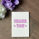'Thank You' Small Letterpress Card