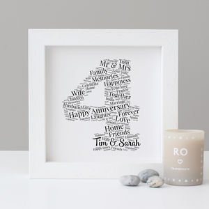 Personalised 4th Anniversary Print - typography