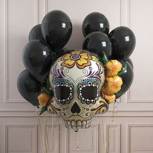 Halloween Sugar Skull Party Balloon Pack - party decorations