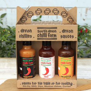 Chilli Sauce Gift Pack Three Bottle - sauces & marinades