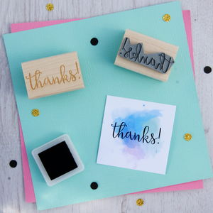 Thanks Sentiment Rubber Stamp