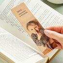 Personalised 'Shhh…' Leather Bookmark With Photo