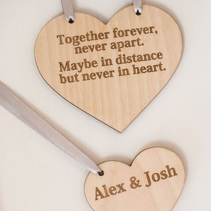 Personalised Wood Heart And Gift Tag - decorative accessories