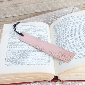 'This Is Where I Fell Asleep' Copper Bookmark - book-lover