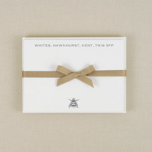 Bee Correspondence Cards - notelets & writing paper