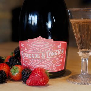 British Elderflower And Rhubarb Sparkling Wine - champagne & prosecco