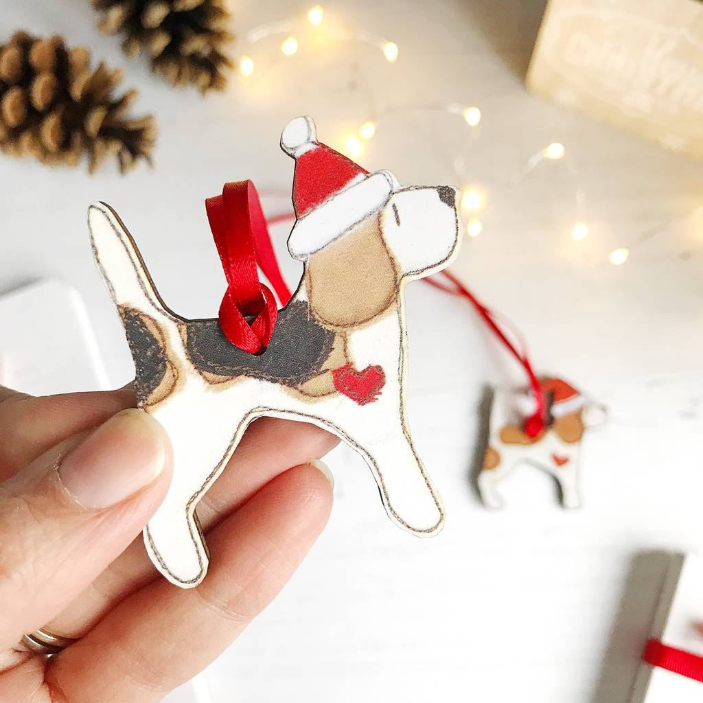 beagle christmas ornament choice of designs by ren and ...
