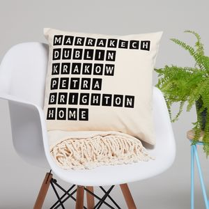 Personalised Anniversary Destination Cushion - cushions
