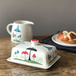 Toadstool Butter Dish - tableware