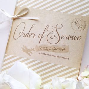 'Fly Away With Me' Order Of Service Or Day Booklet