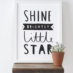 Shine Brightly New Baby Print