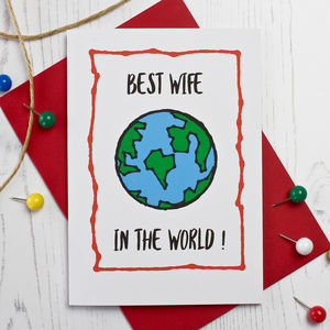 Best Wife In The World Card