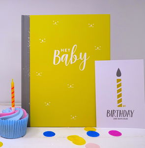 New Baby Journal And Milestone Cards Gift Set - keepsake albums