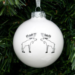 Christmas Bauble With Moose