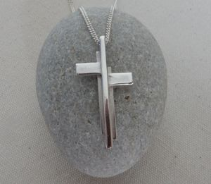 Silver Cross Pendant And Chain - necklaces