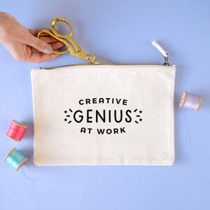 Creative Genius At Work Project Pouch