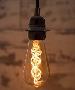 Spiral LED Light Bulb Teardrop Vintage