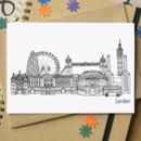 London Landmarks Greetings Card