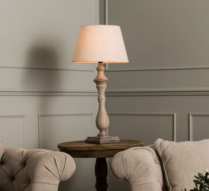 Mowbray Tear Drop Style Lamp With Beige Shade - bedroom