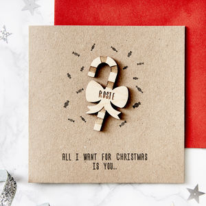 Candy Cane Personalised Christmas Card - what's new