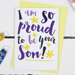 Proud To Be Your Son, Mother's Day Card