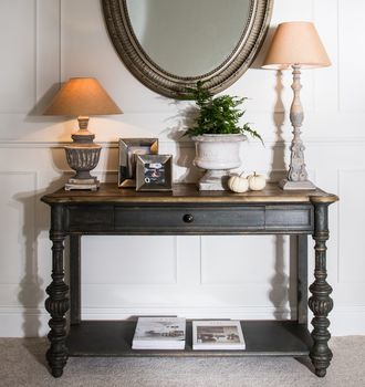 Woodcroft Colonial Grey Console Table