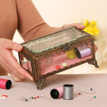 Personalised French Style Haberdashery Box