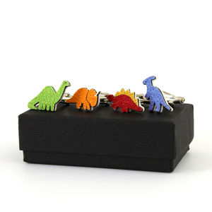 Dinosaur Cufflinks More Colours Available - gifts by category