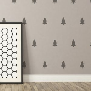 Contemporary Mini Tree Wall Stickers