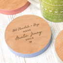 Personalised 'Wine And Mates' Engraved Colour Coaster