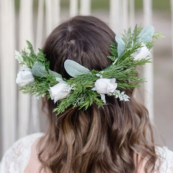 River Bridal Flower Hair Comb