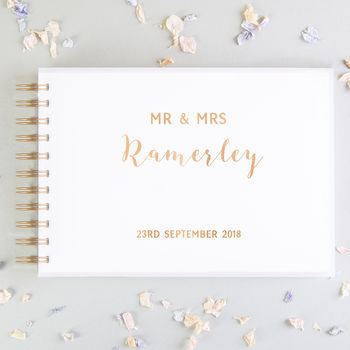 Calligraphy Acrylic Wedding Guest Book