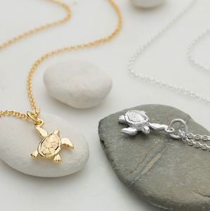 Turtle Necklace With Personalised Message Card