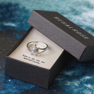 Turtle Sterling Silver Ring With Quote Card