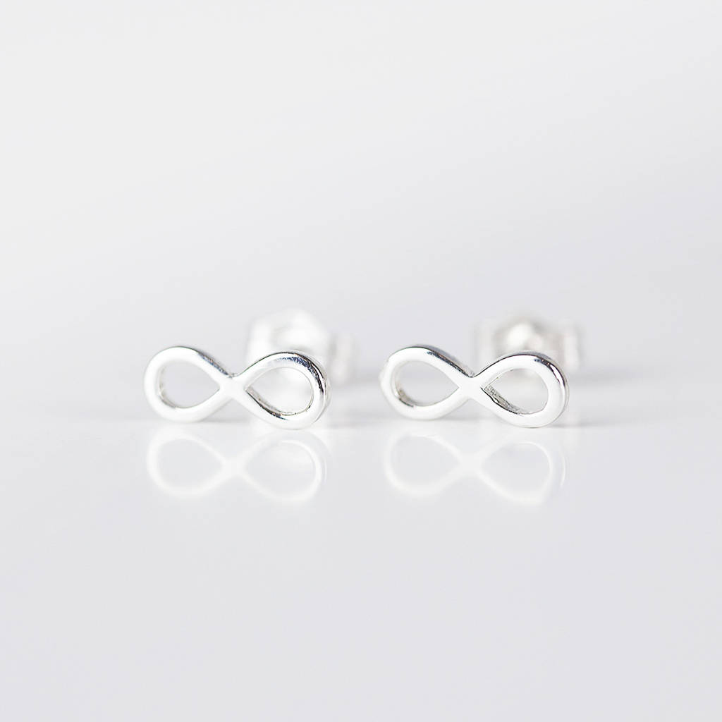 stud martha jewellery infinity earrings products gold silver and jackson