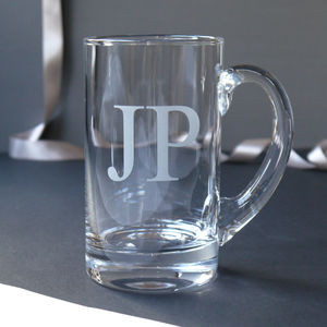 Initial Pint Glass Tankard