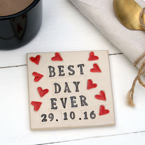 Best Day Ever Ceramic Coaster - placemats & coasters