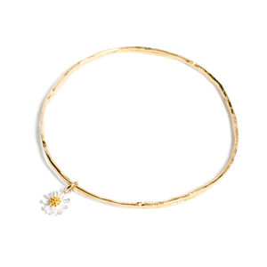 Daisy Bangle - flower girl jewellery