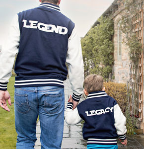 Dad And Child Personalised Varsity Jacket Set - children's dad & me sets
