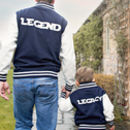 Dad And Child Personalised Varsity Jacket Set