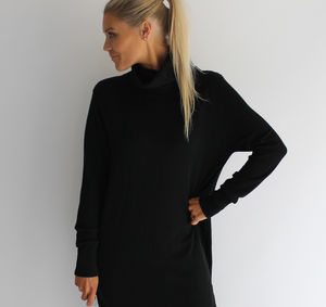 Cashmere Roll Neck Maxi Jumper
