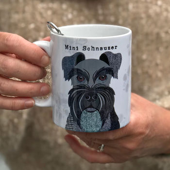 Black Mini Schnauzer Dog Mug