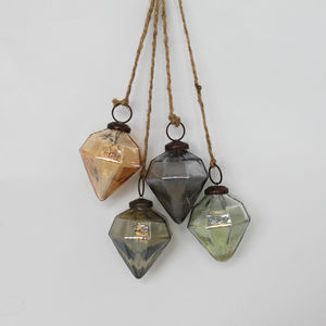 Cluster Of Glass Diamond Decorations