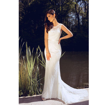 Bridal Maisee Lace And Macrame Ivory Wedding Dress