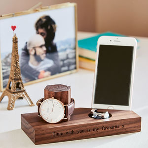Personalised Bedside Watch And Phone Stand - personalised gifts sale
