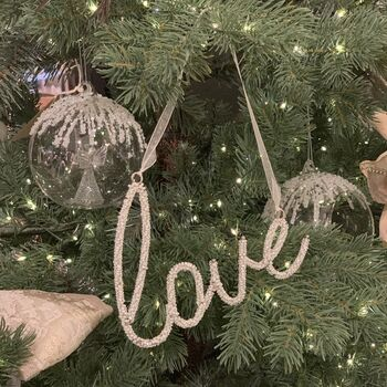 Hanging Beaded Love Decoration