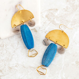 Ossie Statement Abstract Face Earrings