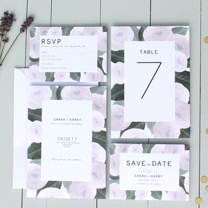 Modern Floral Wedding Invitation - place cards